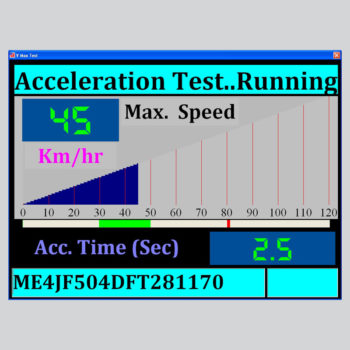 Data Acquisition Software Screen