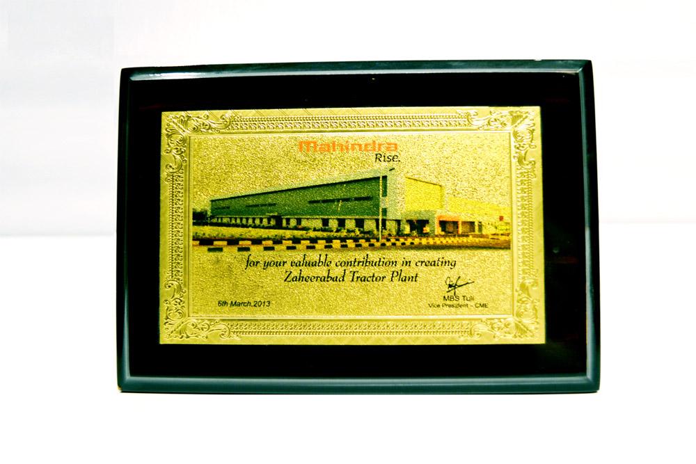 Sajdyno - Certificate of Valuable Contribution Mahindra Rise