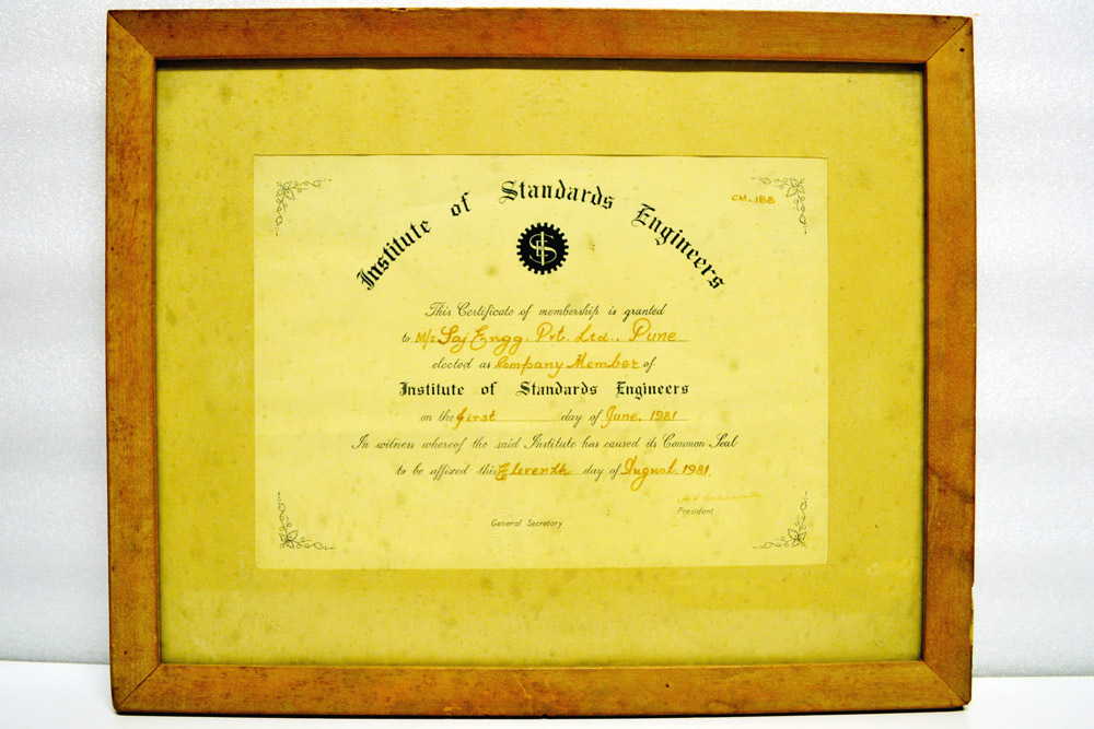 Sajdyno – Company Members of Institute of Standards Engineers